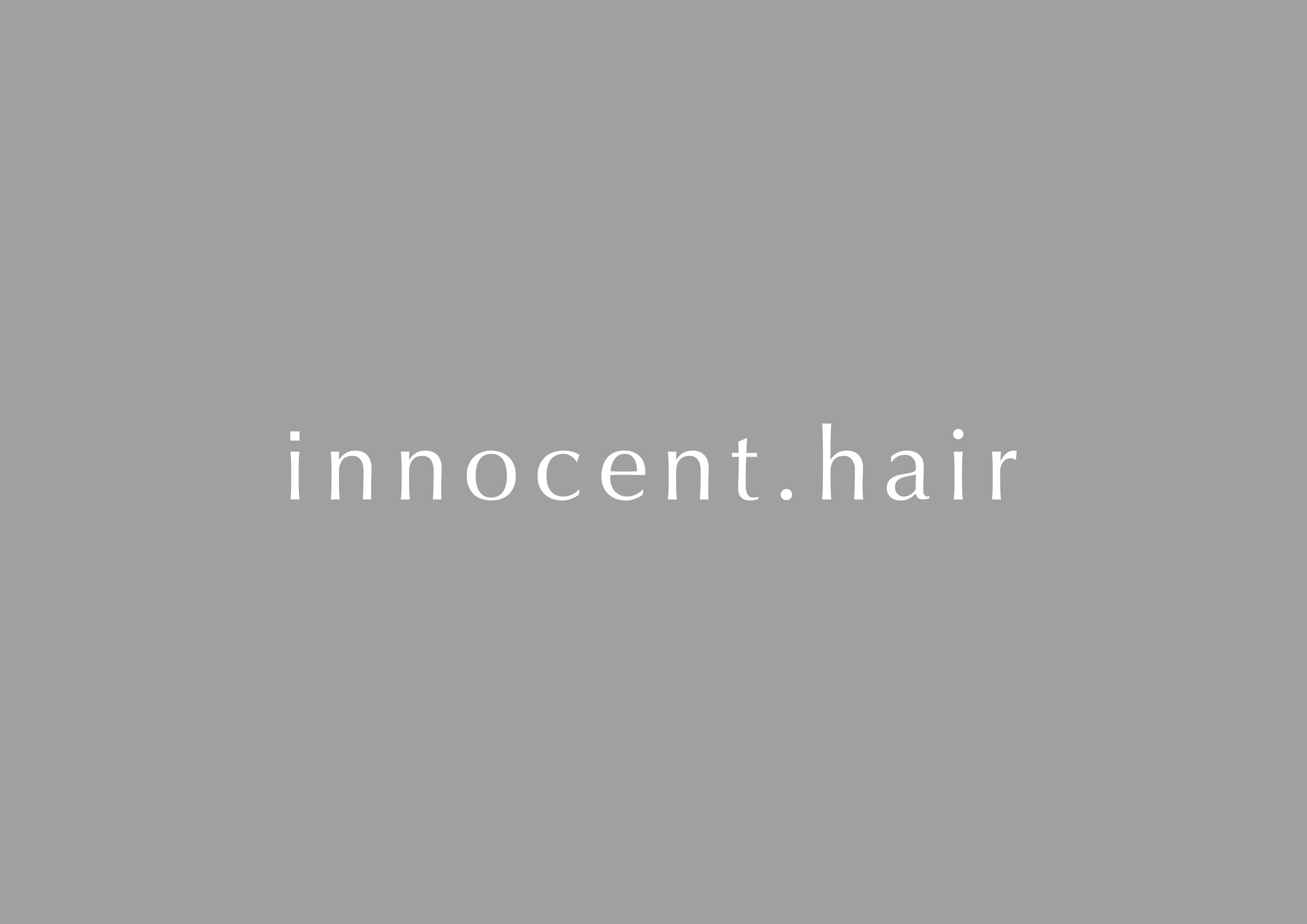 平尾・薬院にある美容室innocent.hair
